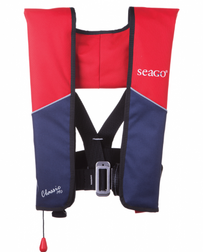 Seago 190N Classic Lifejacket Red/Navy Inc Crutch Strap and bag